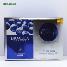 Отбеливающий набор для лица BioAqua withe skin exquisite beauty box 20х25гр + эссенция 15мл + крем 40гр