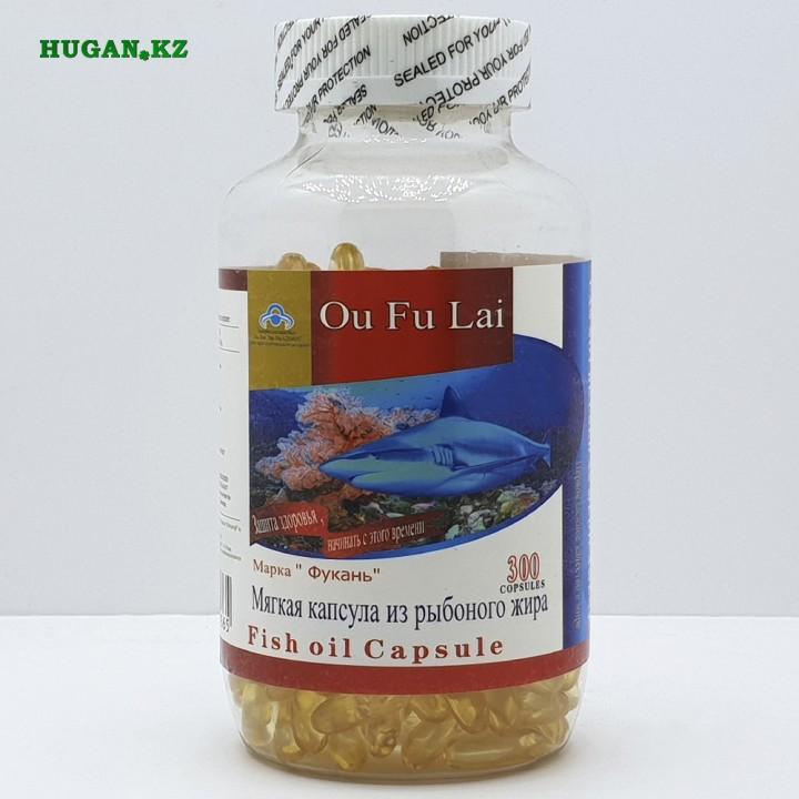 "Рыбий жир марки ""Фукань"" 300 капсул (Витамин Е, желатин, глицерин)"